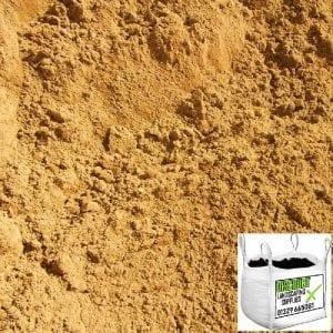 Building sand. Bulk