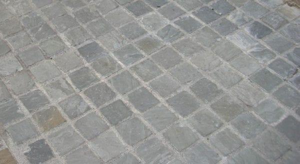Sandstone setts kandla grey laid